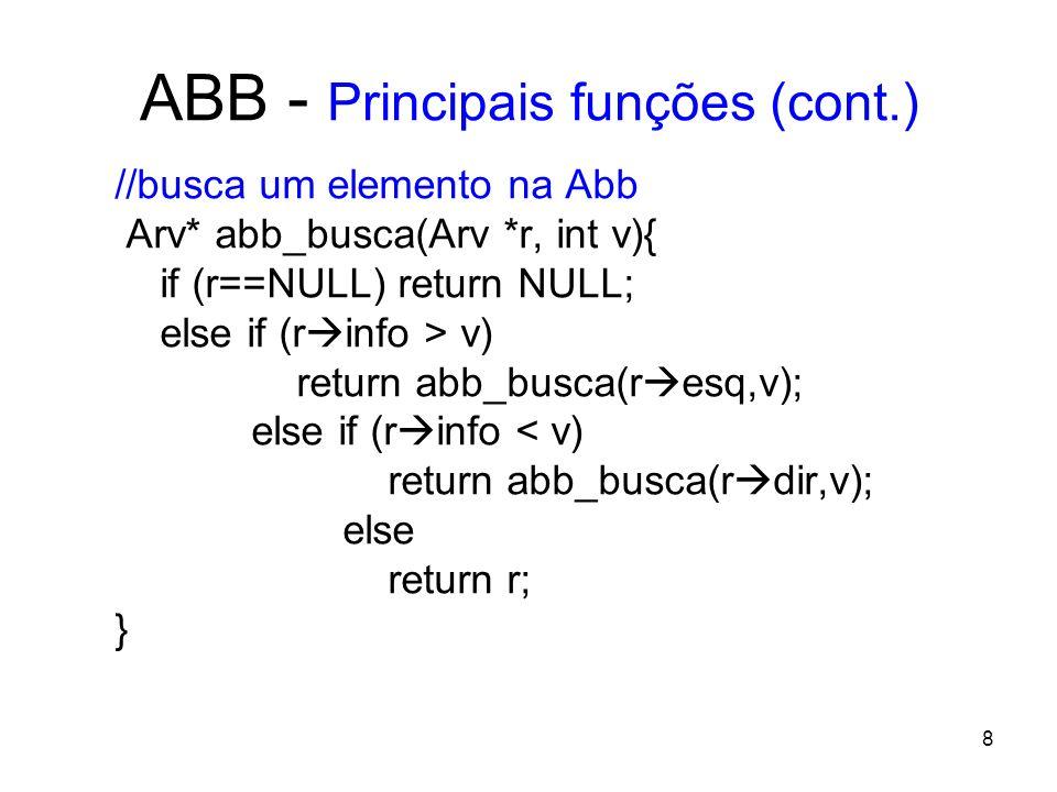 ABB - Principais funções (cont.)