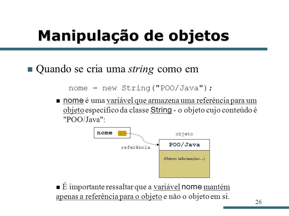 Manipulação de objetos