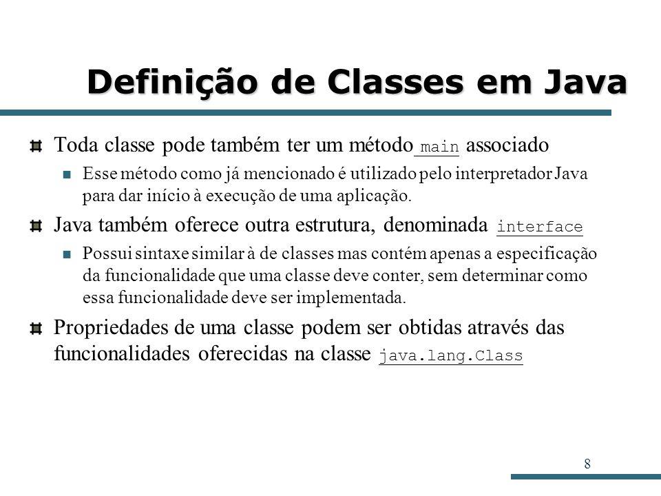 Definição de Classes em Java