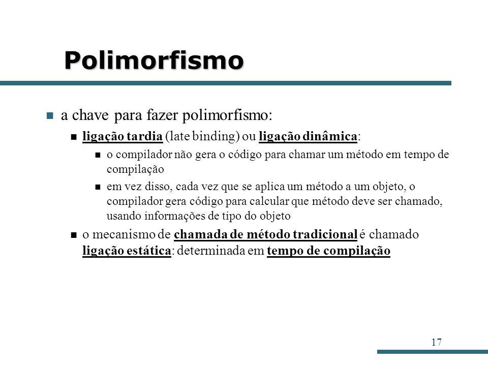 Polimorfismo a chave para fazer polimorfismo: