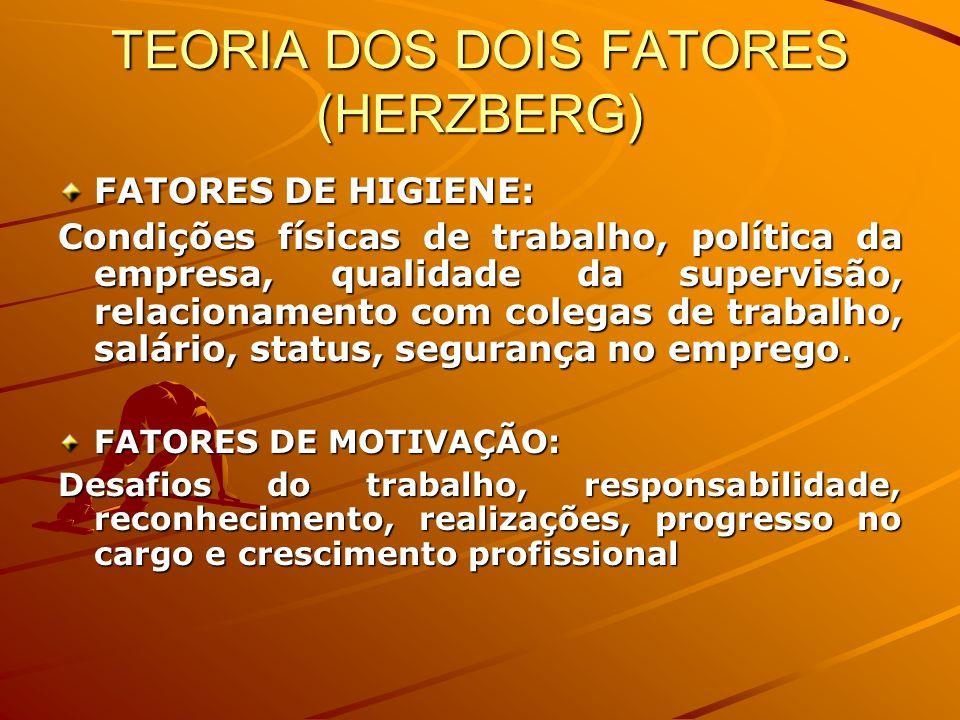 TEORIA DOS DOIS FATORES (HERZBERG)