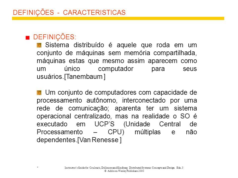 DEFINIÇÕES - CARACTERISTICAS