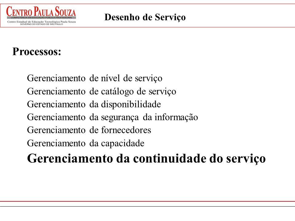 Gerenciamento da continuidade do serviço