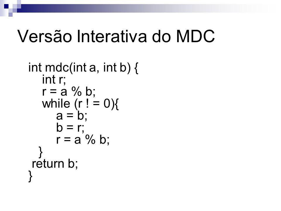Versão Interativa do MDC