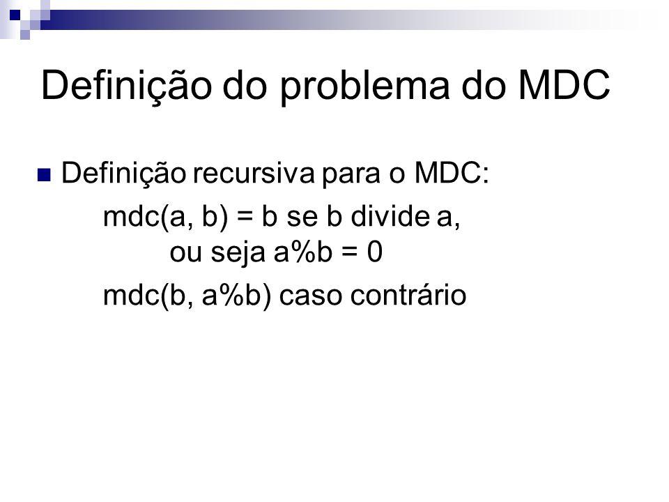 Definição do problema do MDC