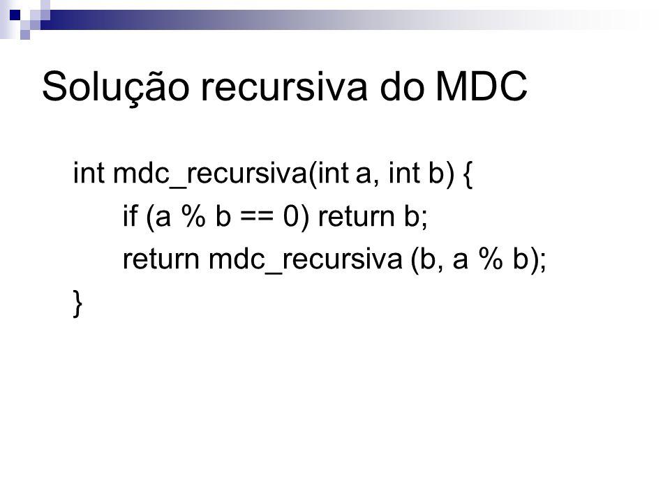 Solução recursiva do MDC