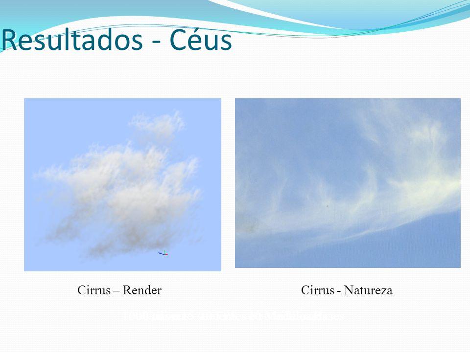 Resultados - Céus Cirrus – Render Cirrus - Natureza