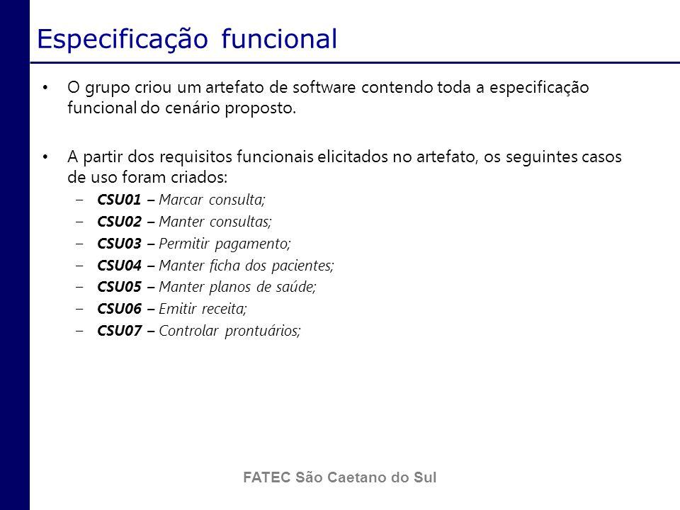 Especificação funcional
