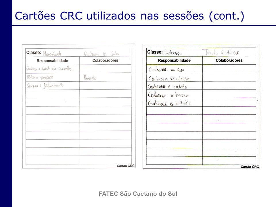 Cartões CRC utilizados nas sessões (cont.)