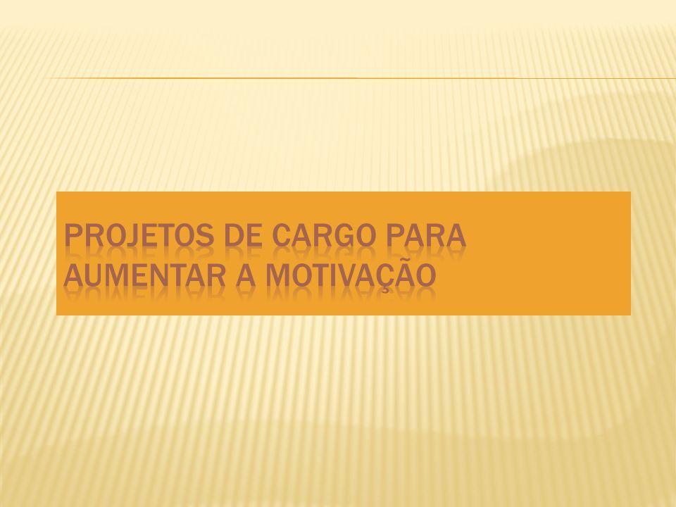 Projetos de Cargo para Aumentar a Motivação