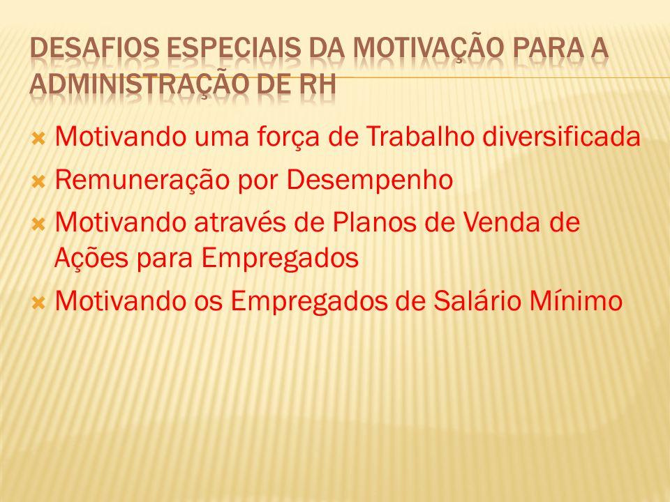 Desafios Especiais da Motivação Para a Administração de RH