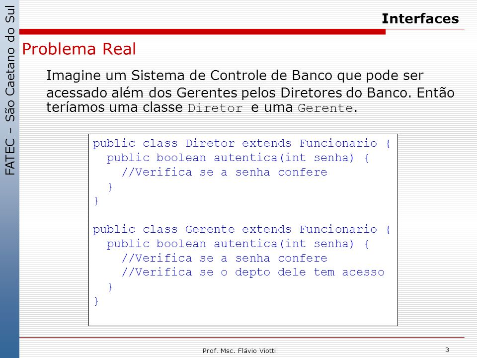 Interfaces Problema Real.
