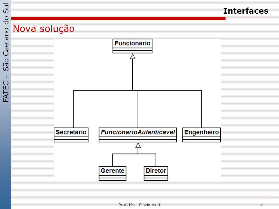 Interfaces Nova solução Prof. Msc. Flávio Viotti