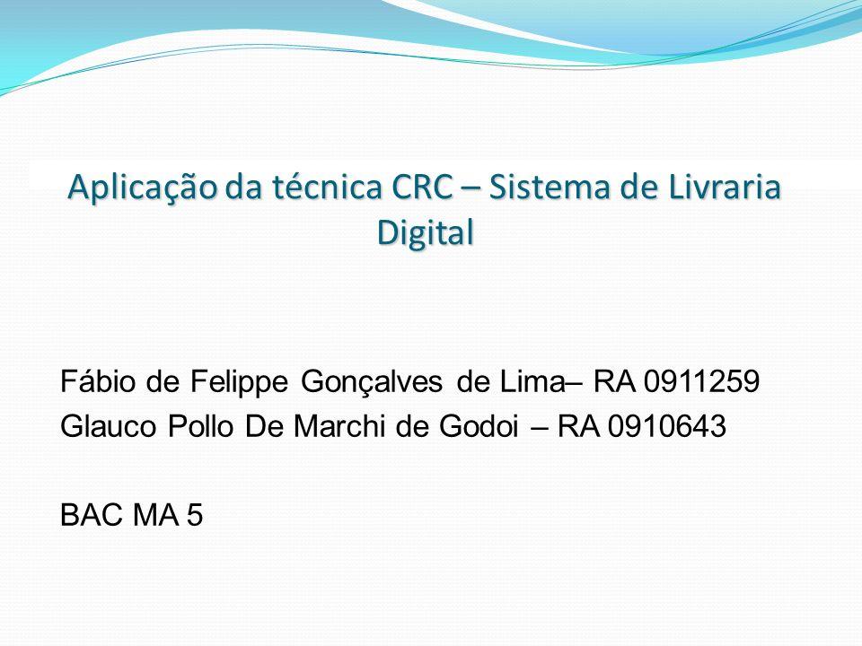 Aplicação da técnica CRC – Sistema de Livraria Digital