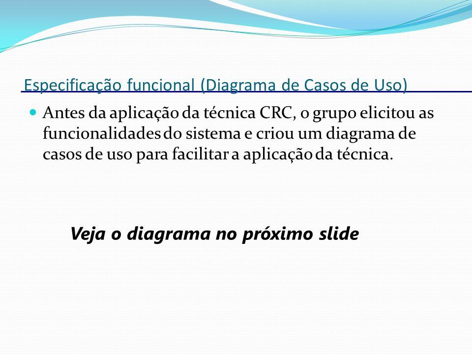 Especificação funcional (Diagrama de Casos de Uso)