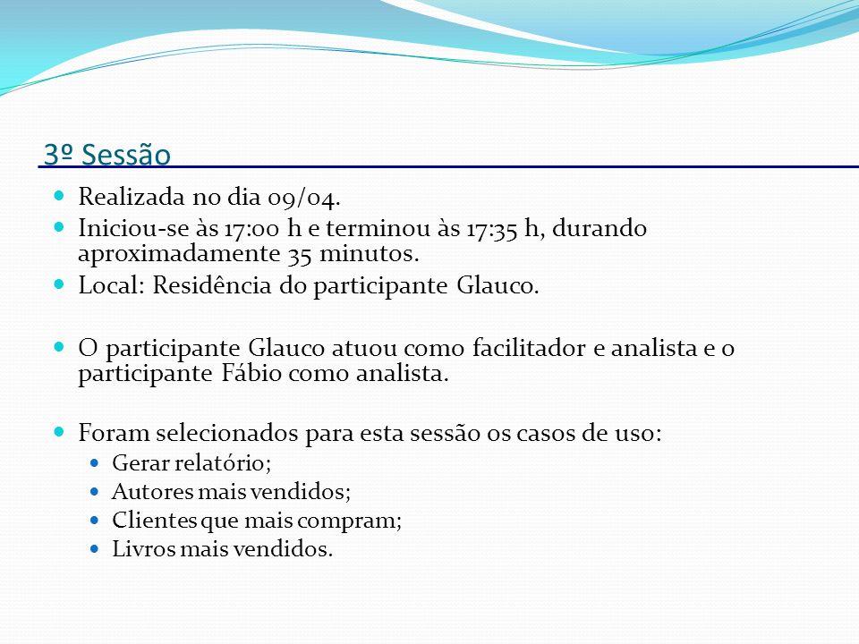 3º Sessão Realizada no dia 09/04.