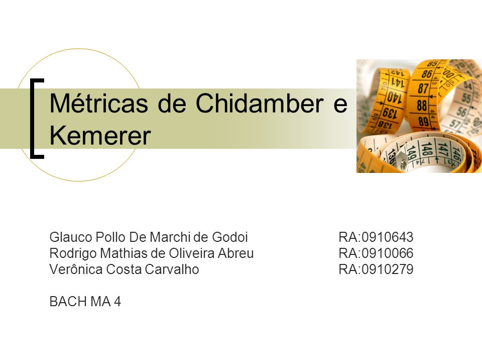 Métricas de Chidamber e Kemerer