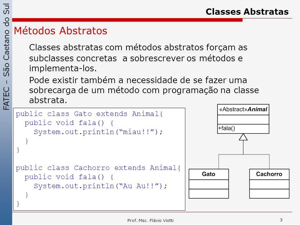 Classes Abstratas Métodos Abstratos.