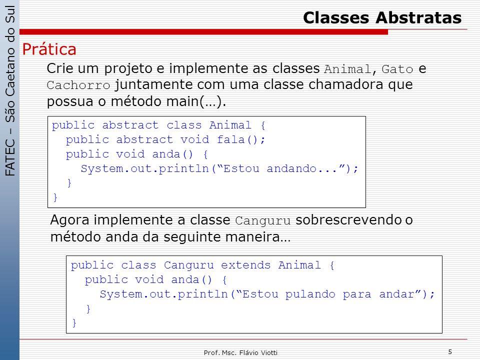 Classes Abstratas Prática