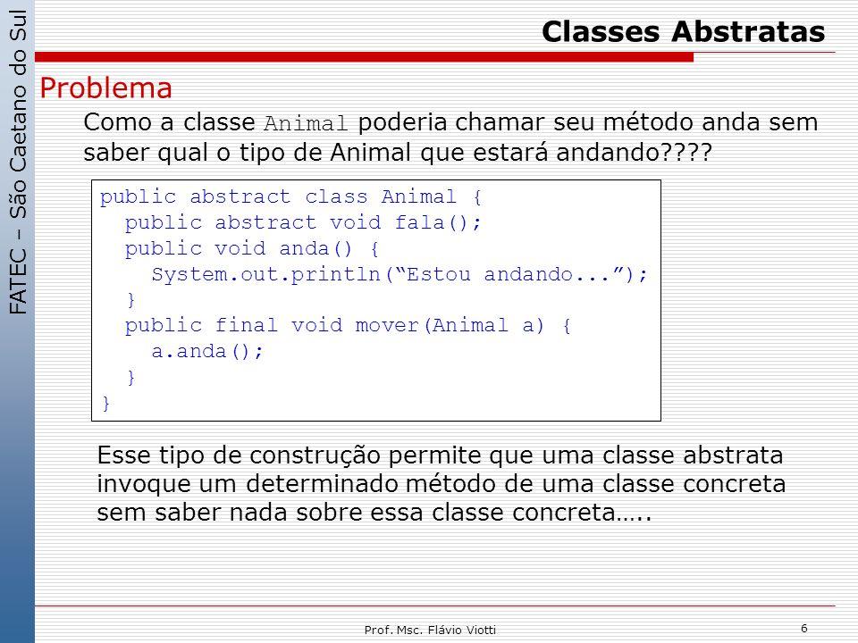 Classes Abstratas Problema