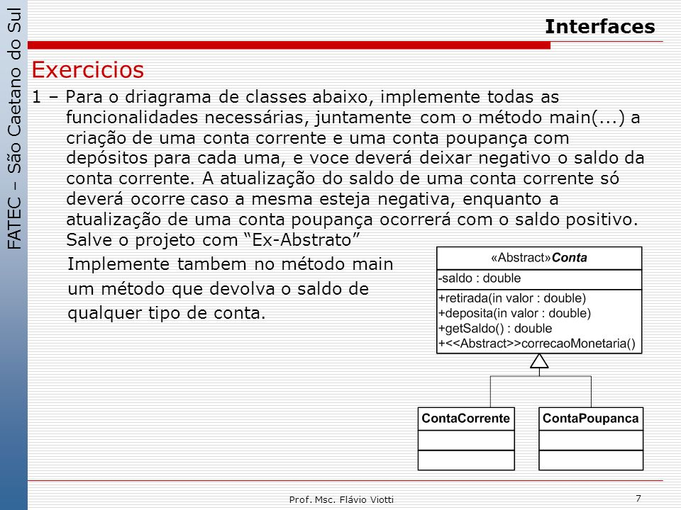 Exercicios Interfaces