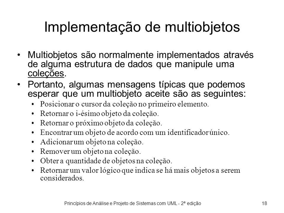 Implementação de multiobjetos