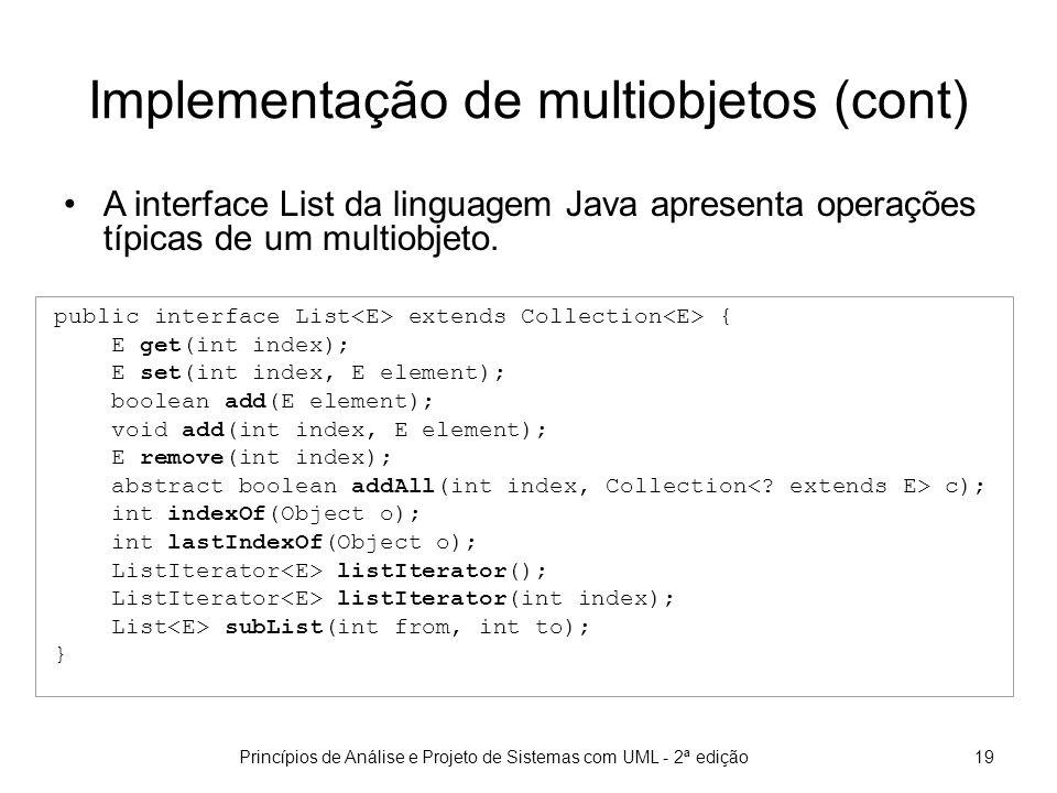 Implementação de multiobjetos (cont)
