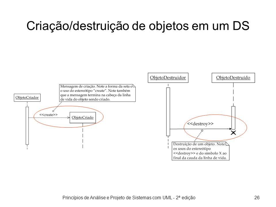 Criação/destruição de objetos em um DS