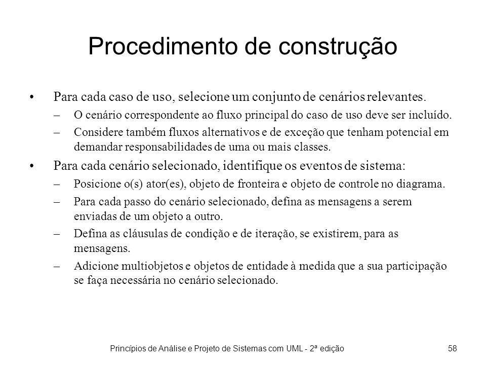 Procedimento de construção