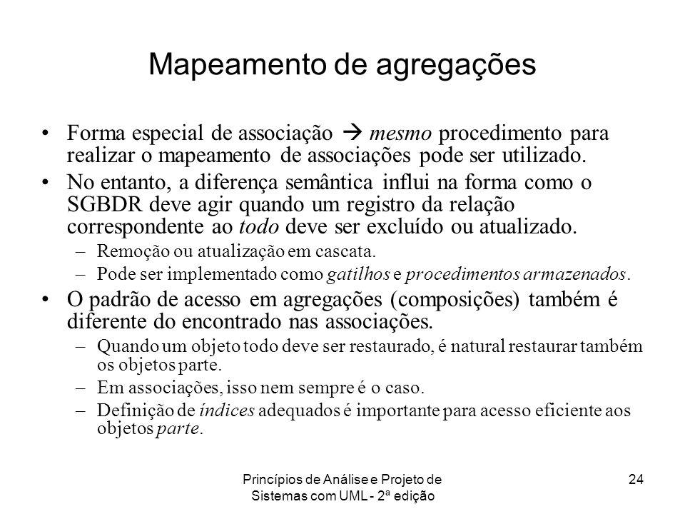 Mapeamento de agregações
