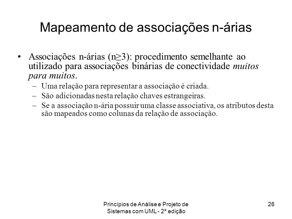 Mapeamento de associações n-árias