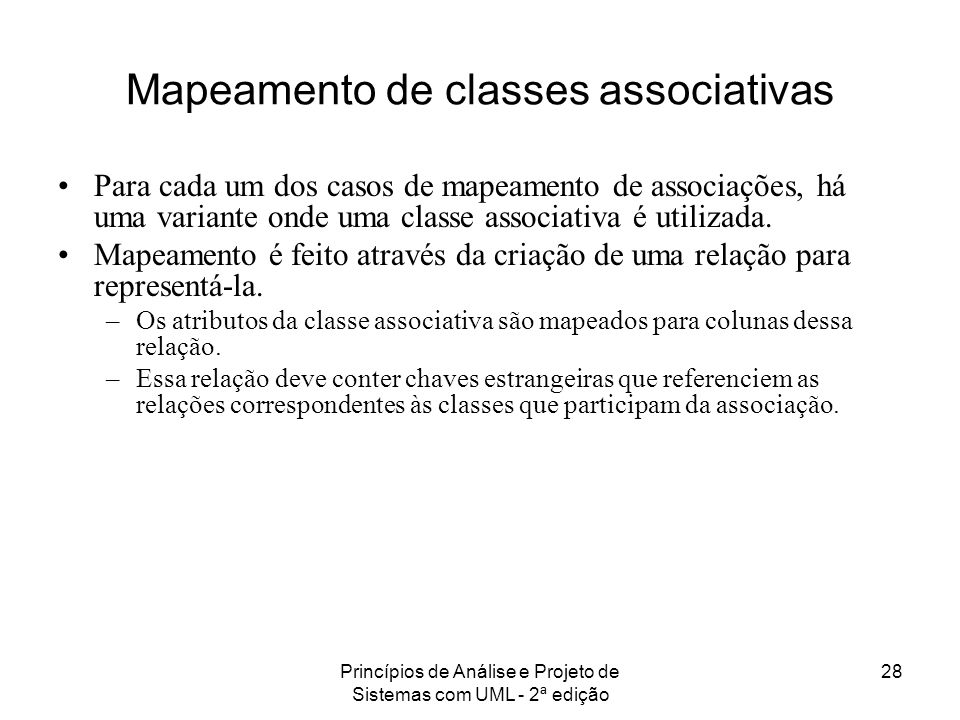Mapeamento de classes associativas