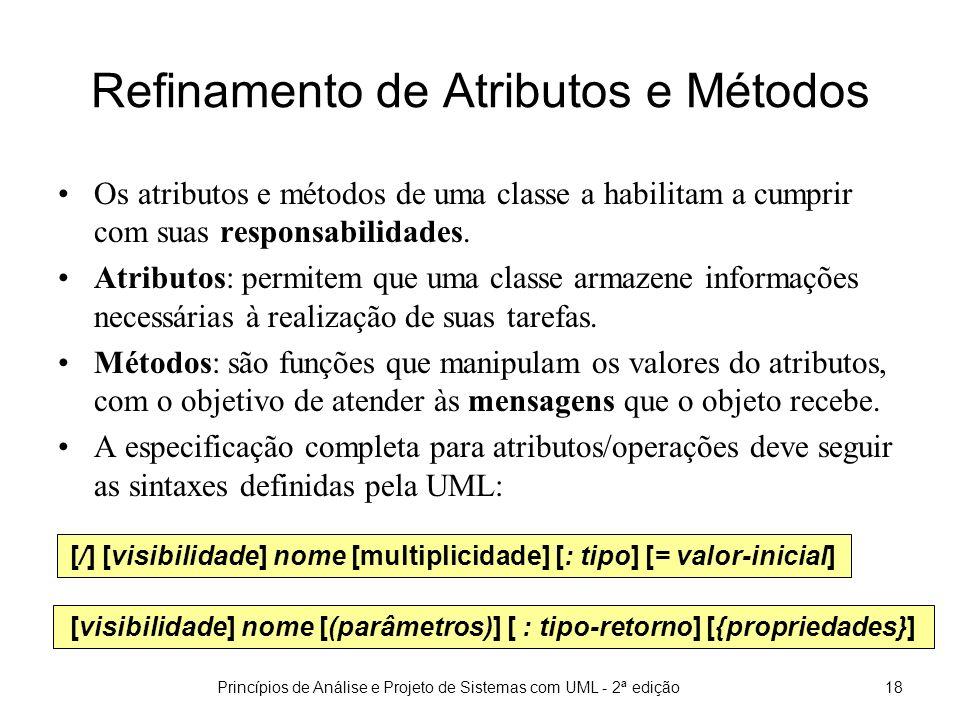 Refinamento de Atributos e Métodos