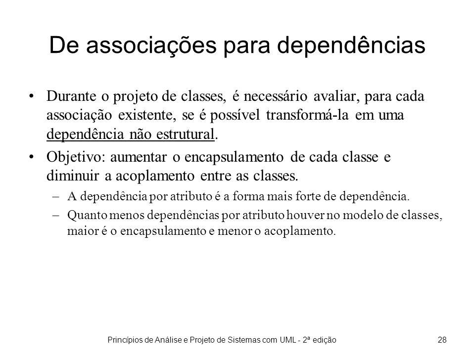 De associações para dependências