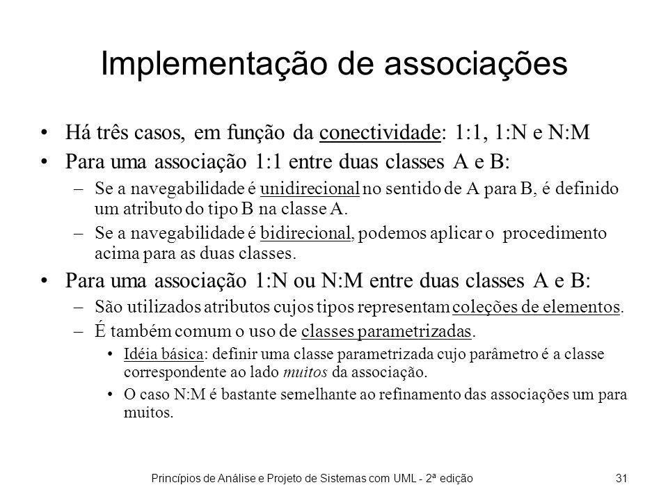 Implementação de associações