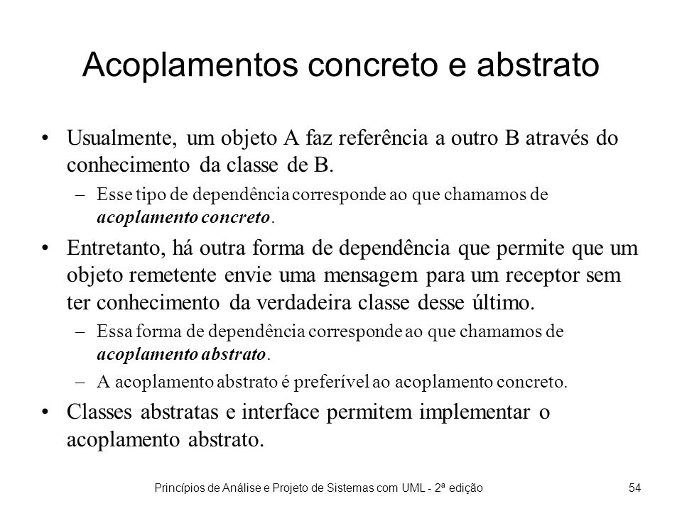 Acoplamentos concreto e abstrato