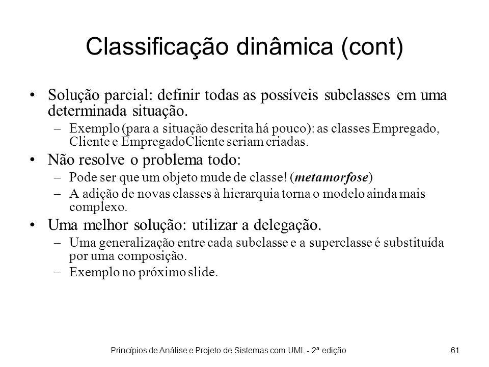 Classificação dinâmica (cont)