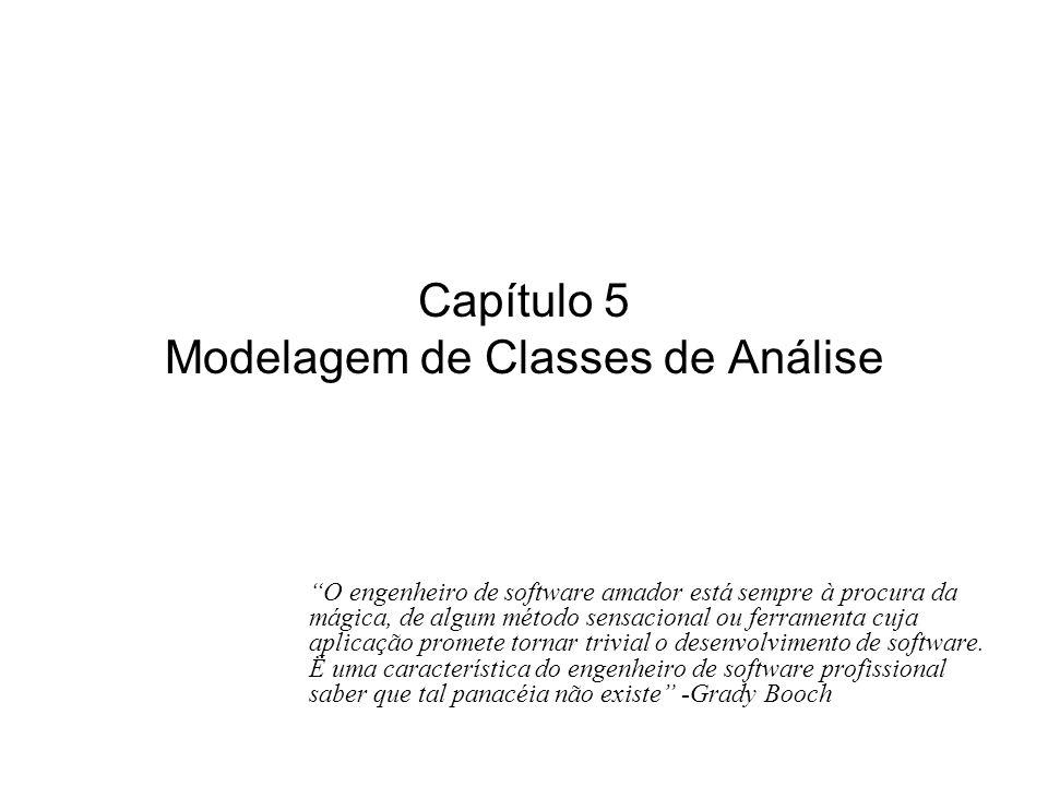 Capítulo 5 Modelagem de Classes de Análise
