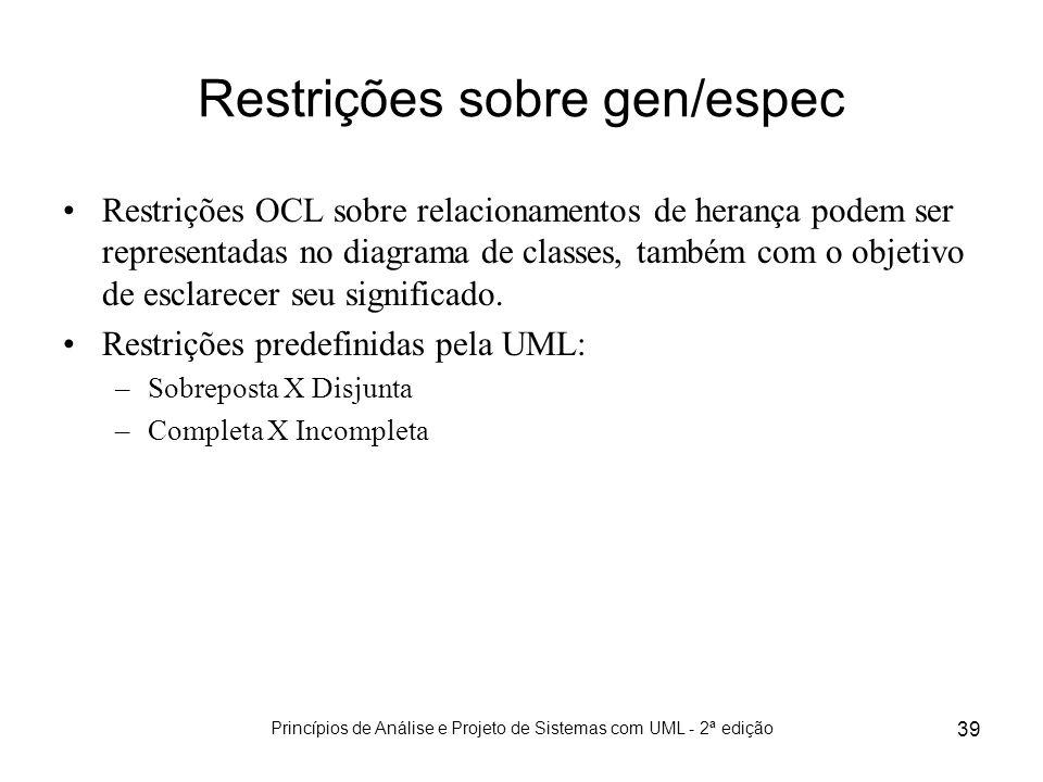 Restrições sobre gen/espec