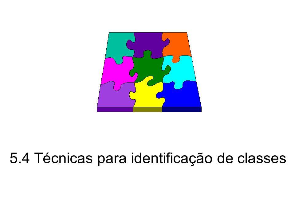 5.4 Técnicas para identificação de classes