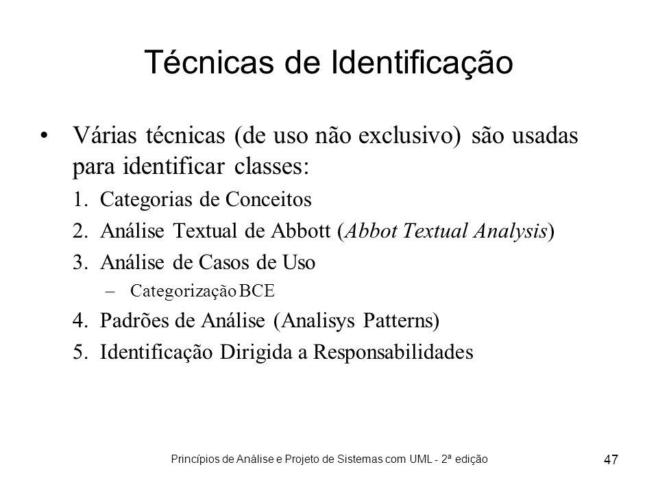 Técnicas de Identificação