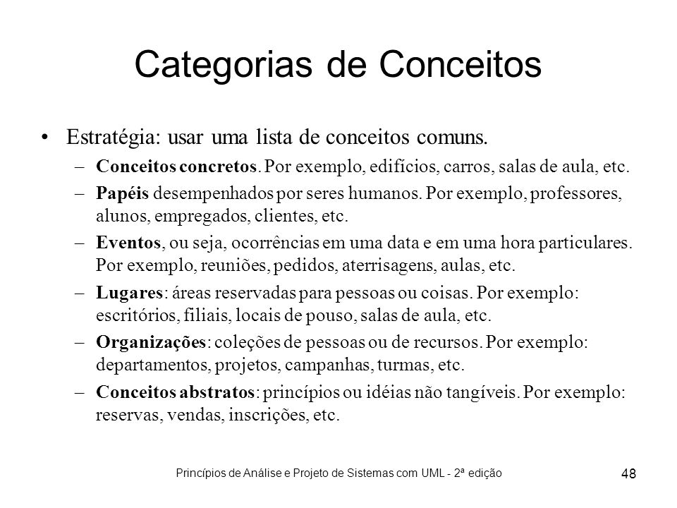 Categorias de Conceitos