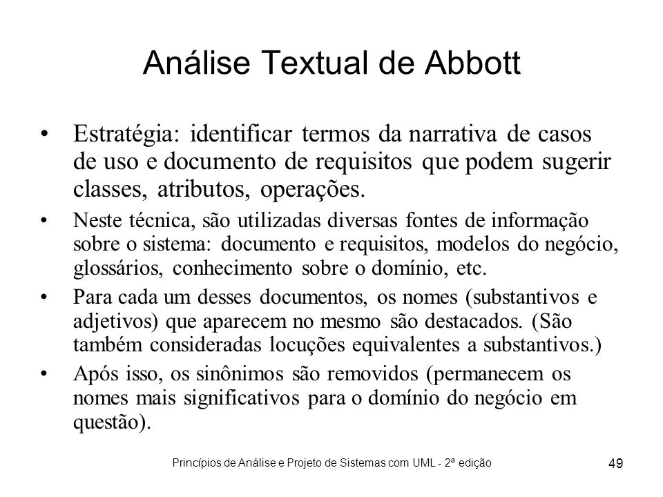 Análise Textual de Abbott