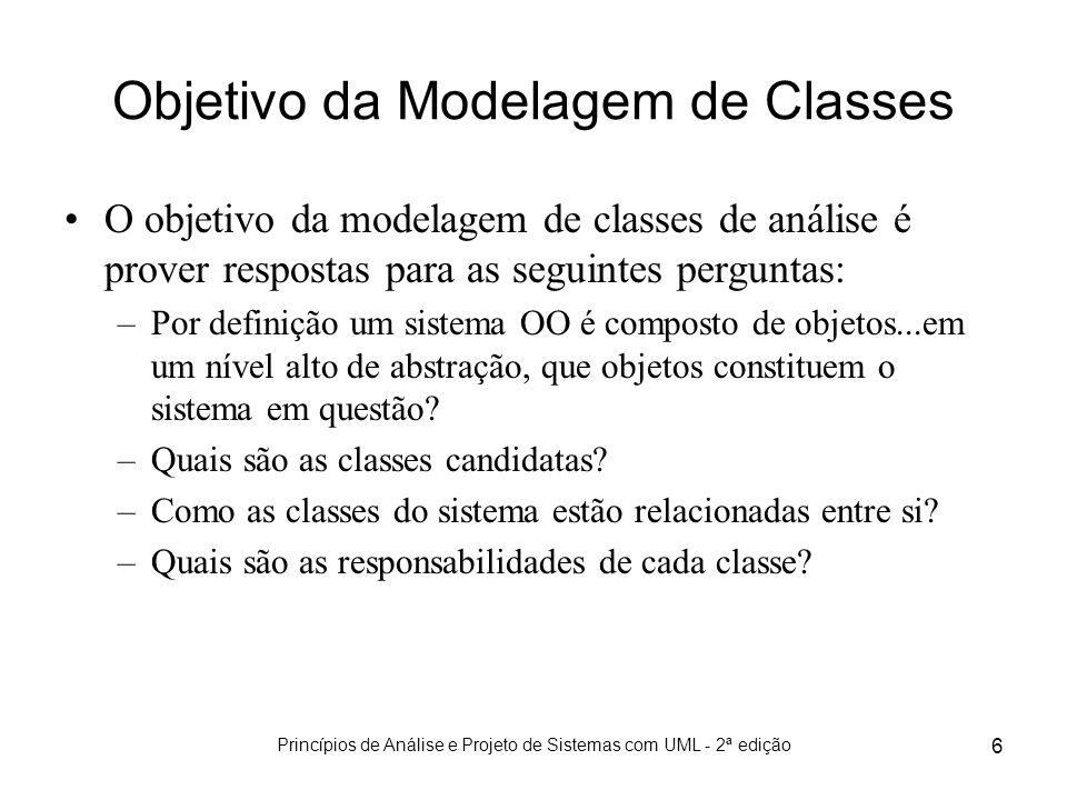 Objetivo da Modelagem de Classes