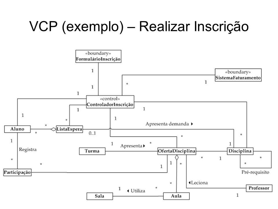 VCP (exemplo) – Realizar Inscrição