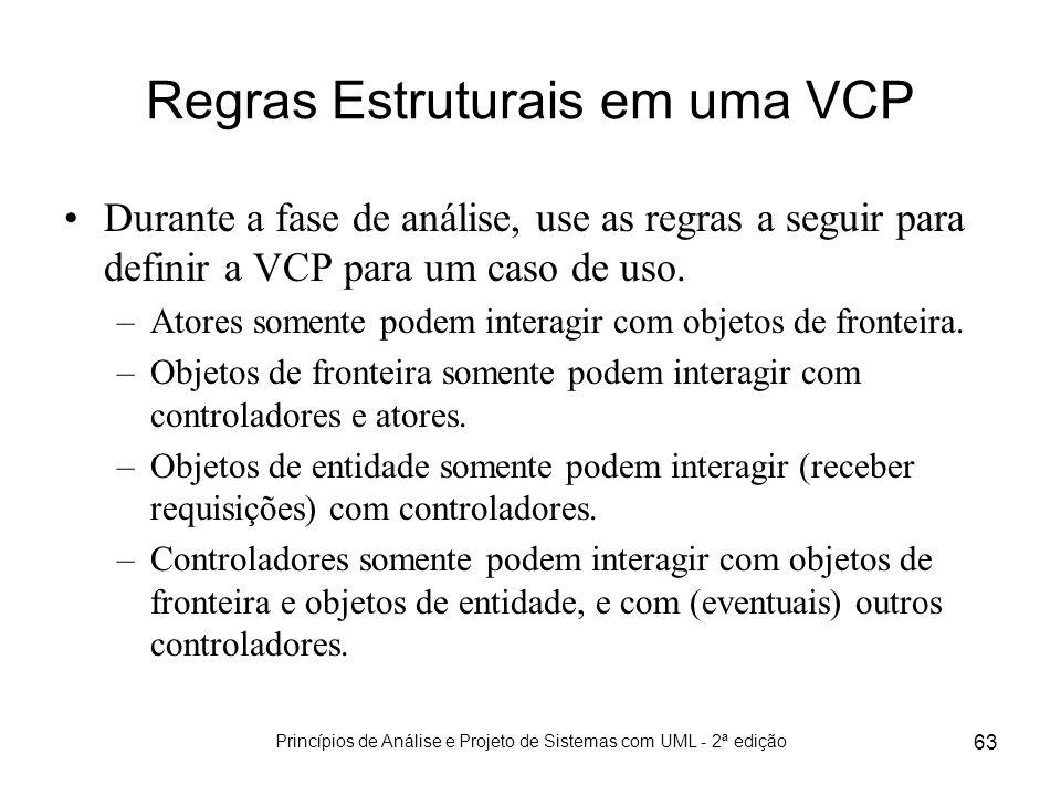 Regras Estruturais em uma VCP