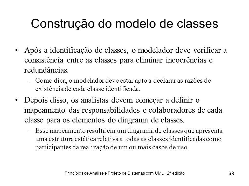 Construção do modelo de classes