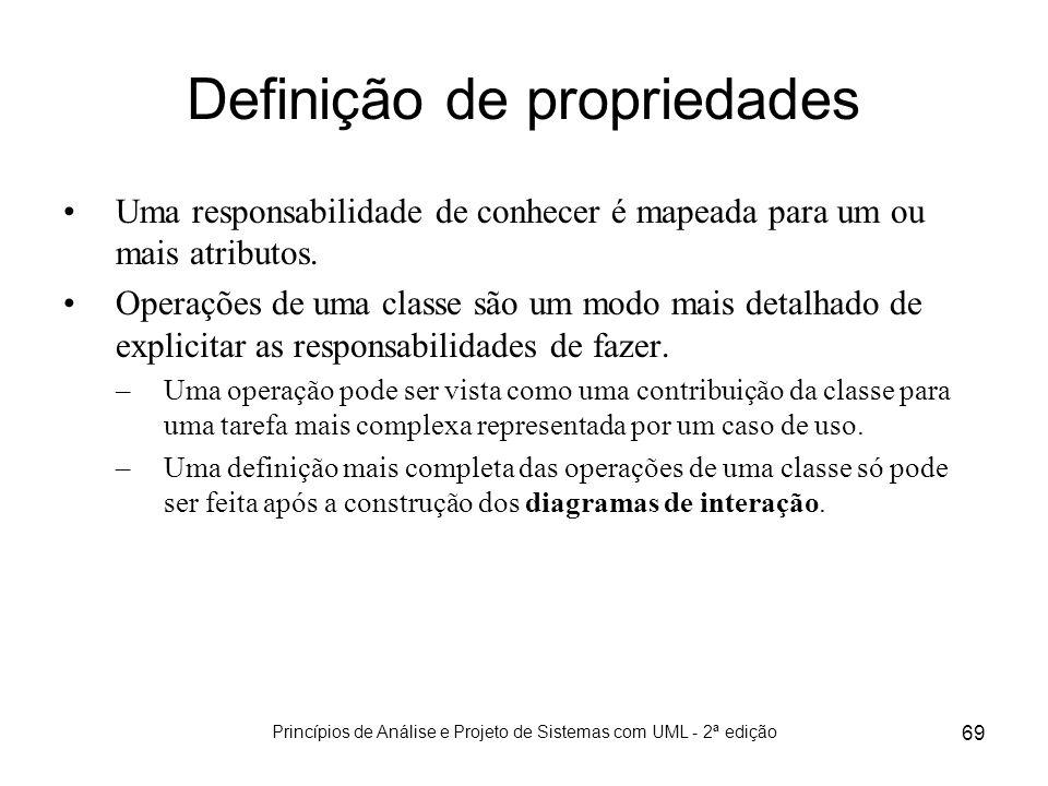 Definição de propriedades
