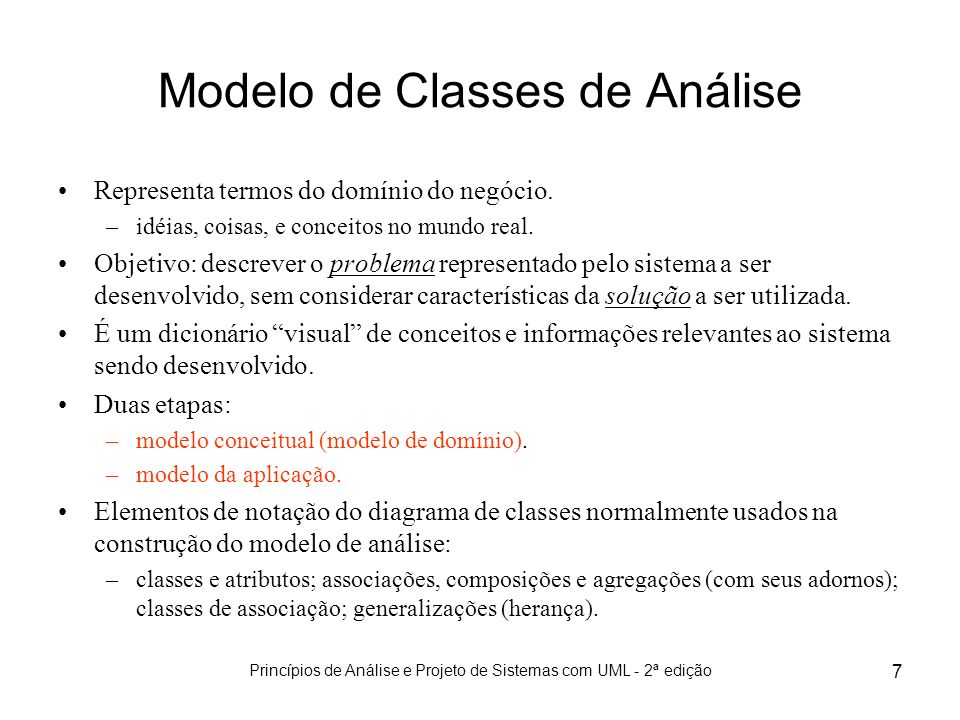 Modelo de Classes de Análise