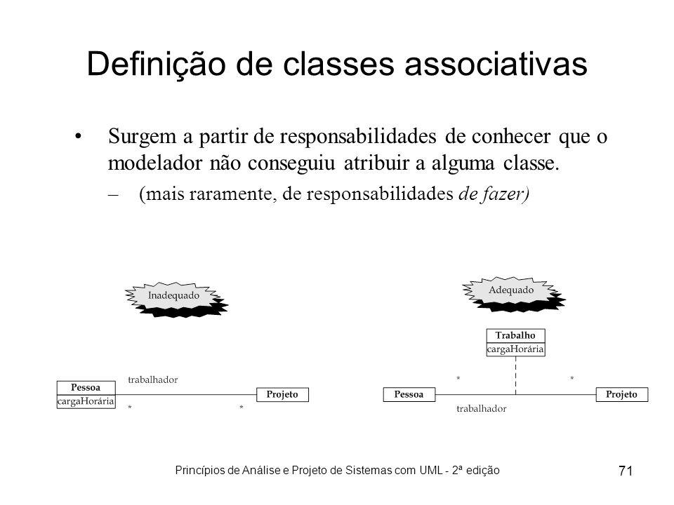 Definição de classes associativas